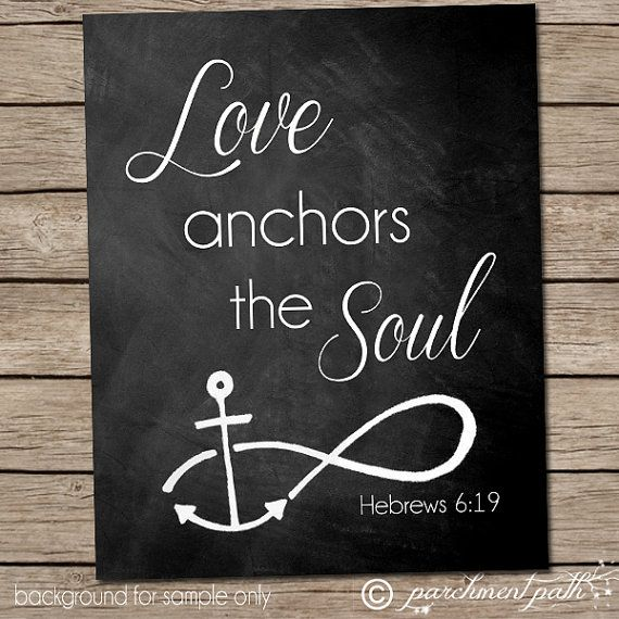 Drawn anchor bible verse 6 Best Cute verses Hebrews