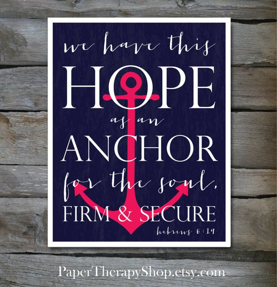 Drawn anchor bible verse Hebrews The and quotes best