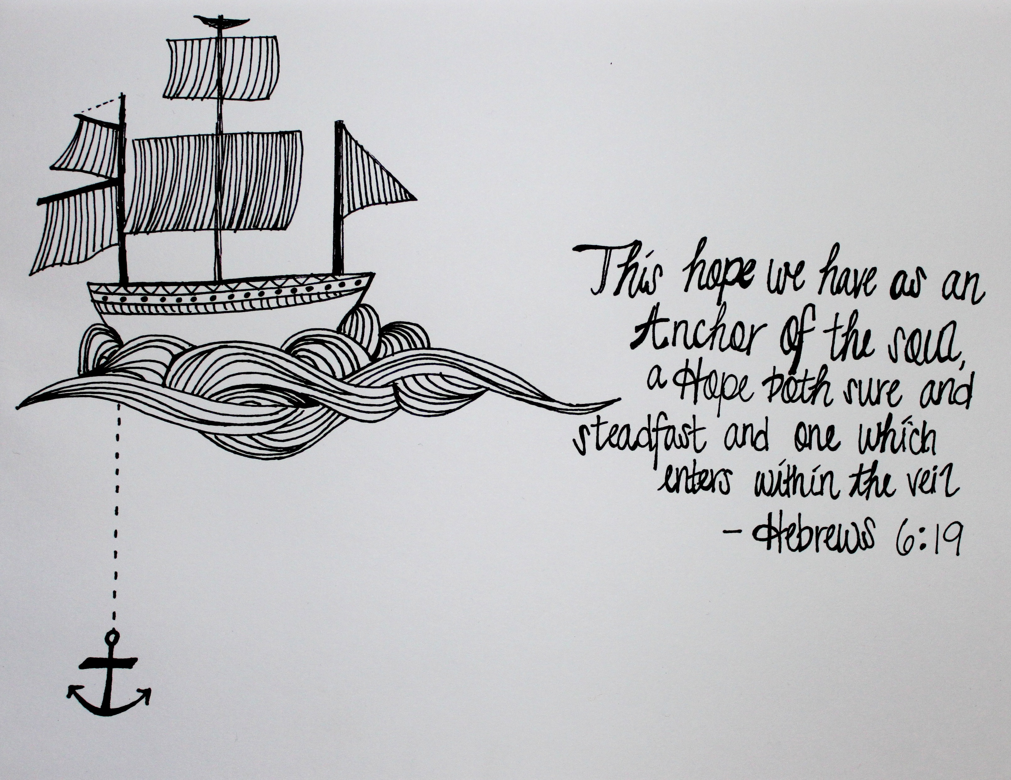 Drawn anchor bible verse The Best of Soul Scriptures