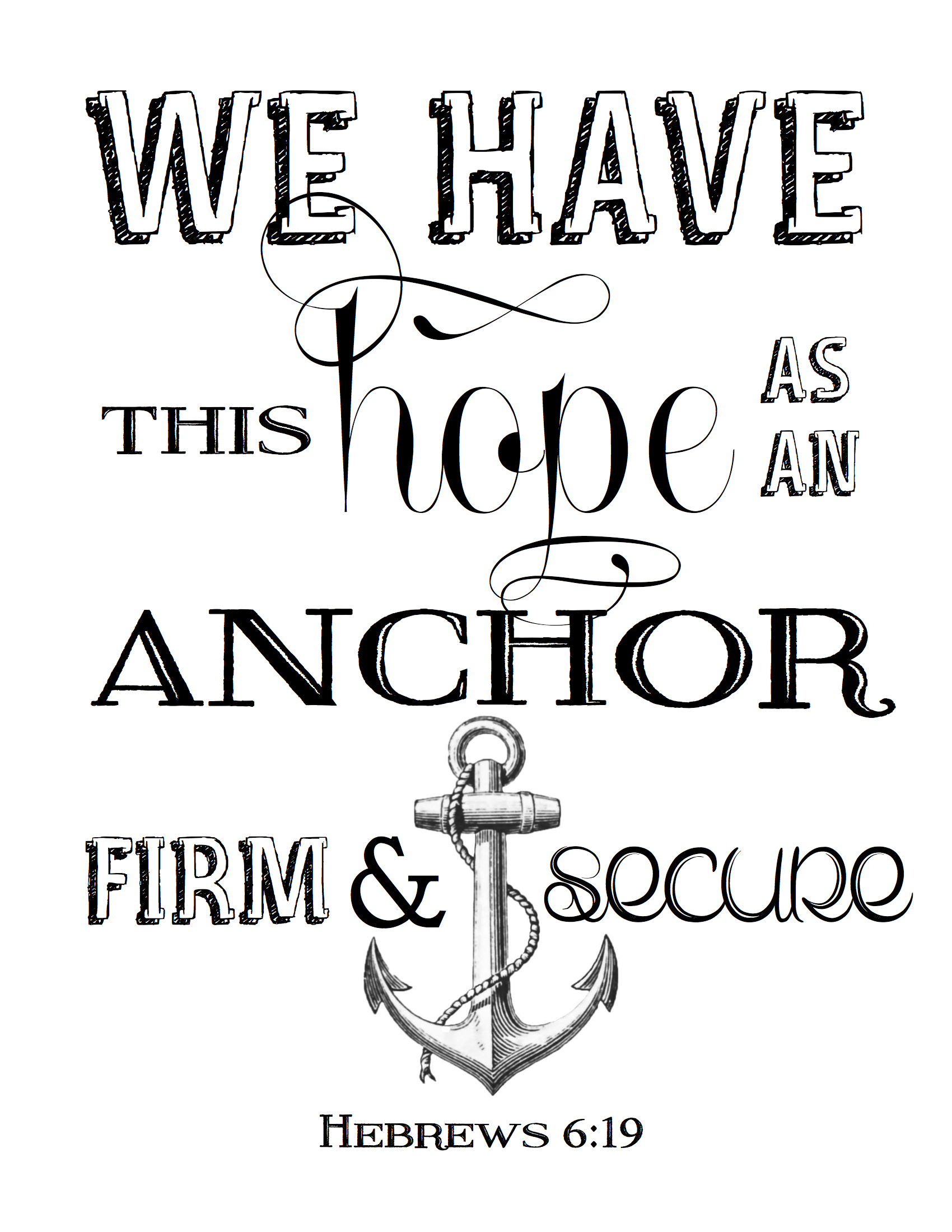 Drawn anchor bible verse Home – Tennessee the Stylish