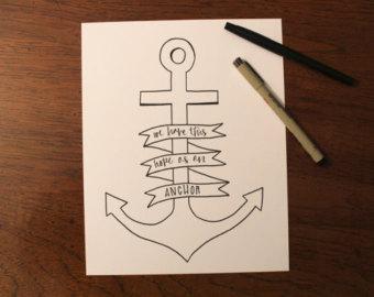 Drawn anchor bible verse 19 hebrews Anchor 6 Etsy