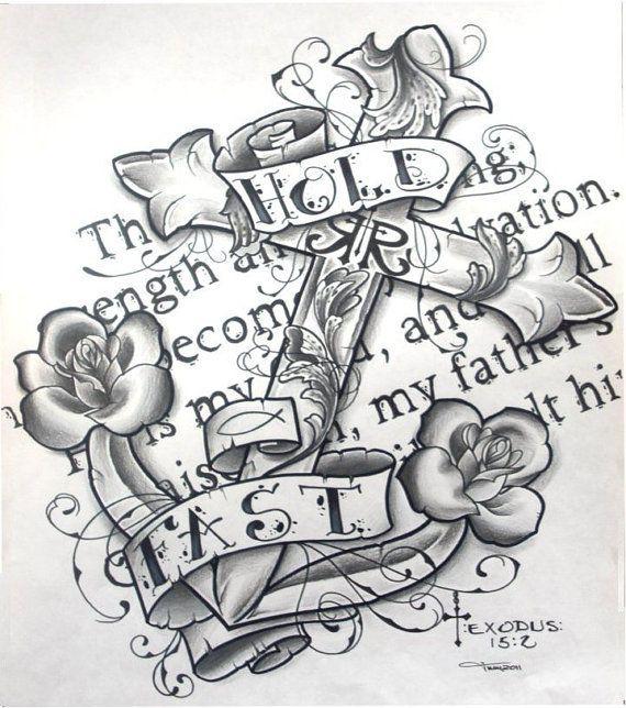 Drawn anchor bible verse Pinterest  tattoo Anchor anchor