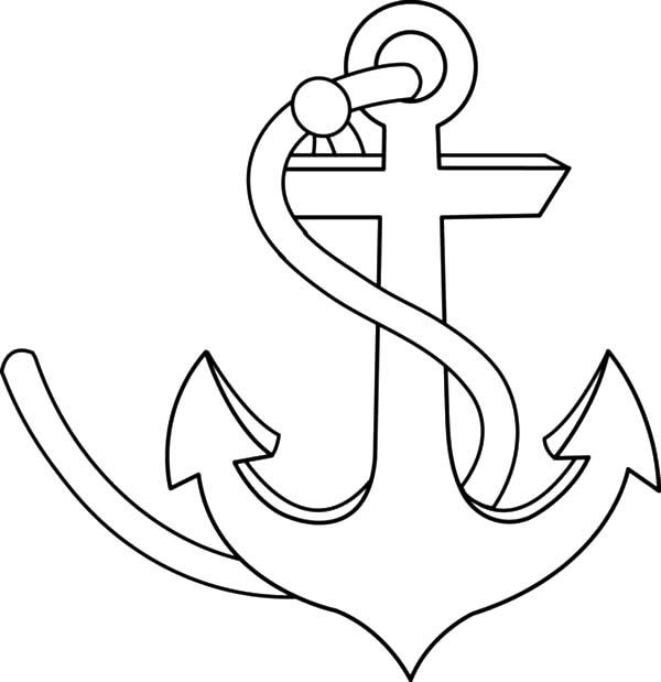 Drawn anchor coloring page Coloring Anchor Strong · Anchor
