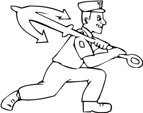 Drawn anchor coloring page Man Coloring Sailor Coloring Sailor