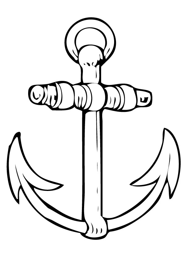 Drawn anchor coloring page Anchor Ideas Anchor picture Drawings