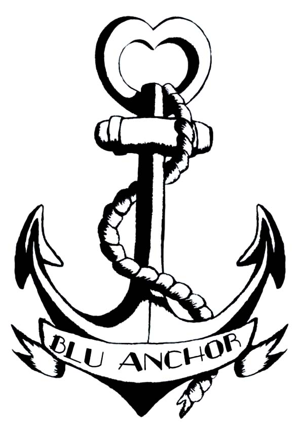 Drawn anchor coloring page Draw Pages Blu Pages to