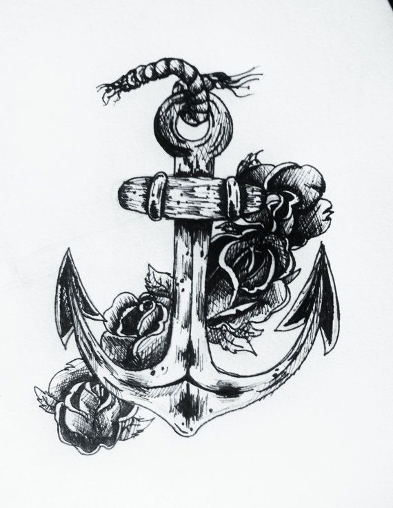 Drawn anchor cross Ideas West on Anchor Anchor