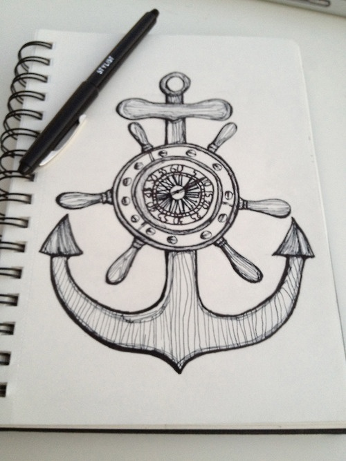 Drawn anchor cute  never me sketch Best