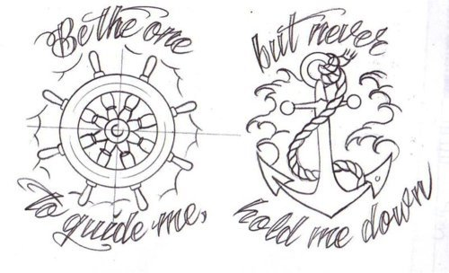 Drawn anchor favim Tattoo image picture design quote