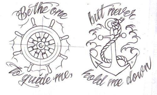 Drawn anchor favim Anchor sailor Favim anchor on