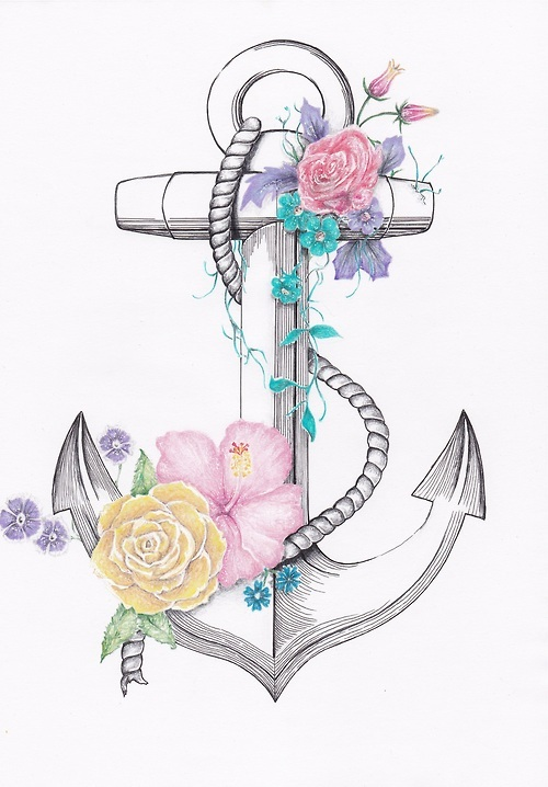 Drawn anchor flower Draw and anchor Tumblr Mmetje15