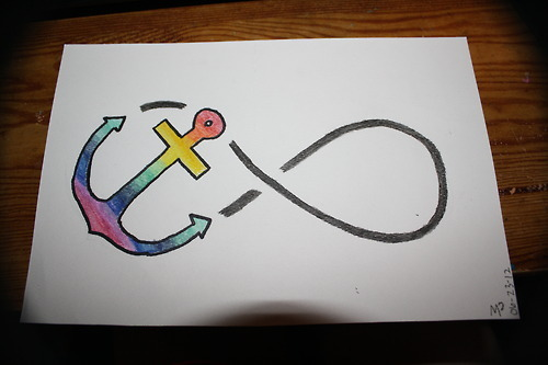 Drawn anchor infinity sign Symbol Symbol DrawingsInfinity With Infinity
