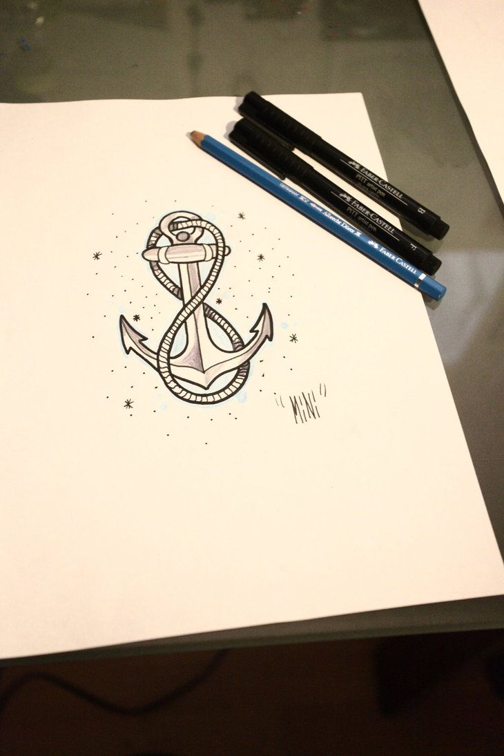 Drawn anchor infinity sign Words or Best anchor a