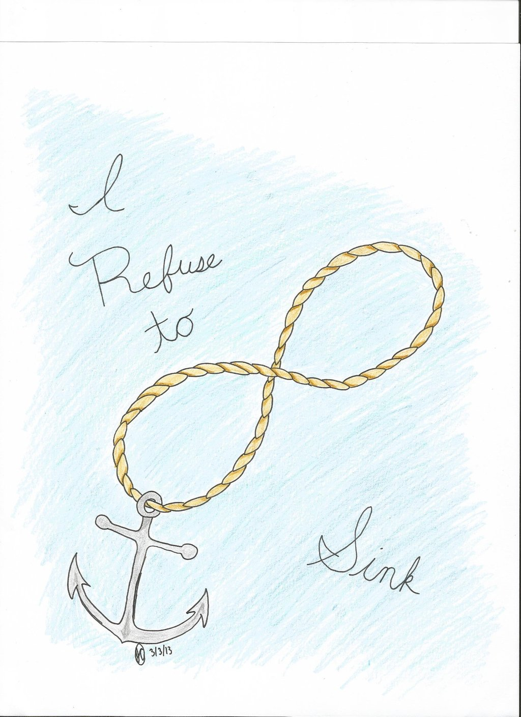 Drawn anchor infinity sign Infinity Images Wallpaper & Becuo