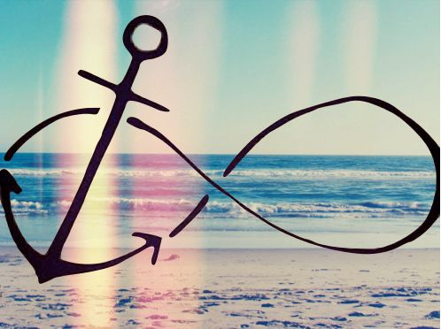 Drawn anchor infinity sign 25+ tattoo on a make