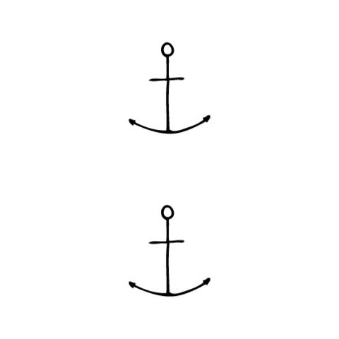 Drawn anchor large Hand Finest Co Habitatt Tattoos