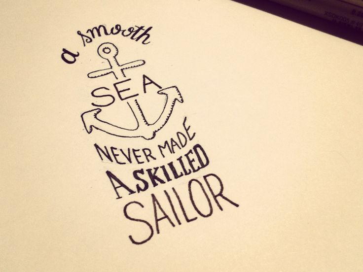 Drawn anchor love quote On quotes sayings 25+ Nautical