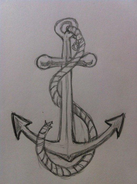 Drawn anchor navy anchor An Draw FeltMagnet to Anchor