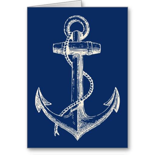 Drawn anchor navy anchor Blue vintage anchor anchor blue
