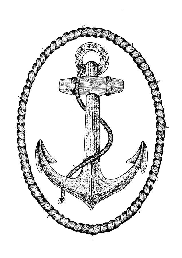 Drawn anchor navy anchor Illustrated Anchor Vintage Drawn Drawing