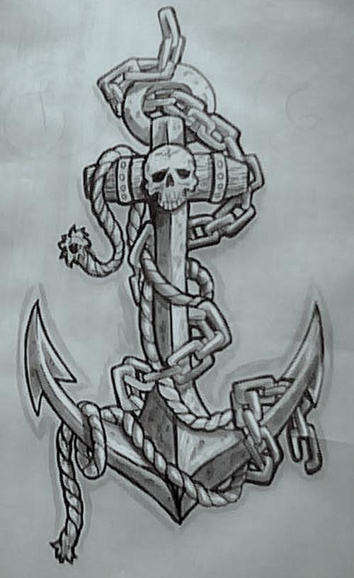 Drawn anchor navy anchor Tattoos Tattoos Tattoo Navy Designs
