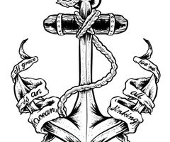 Drawn anchor navy anchor Images tattoo Pinterest Tattoo on