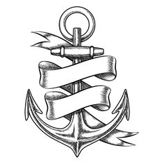 Drawn anchor neat J Hand Set by