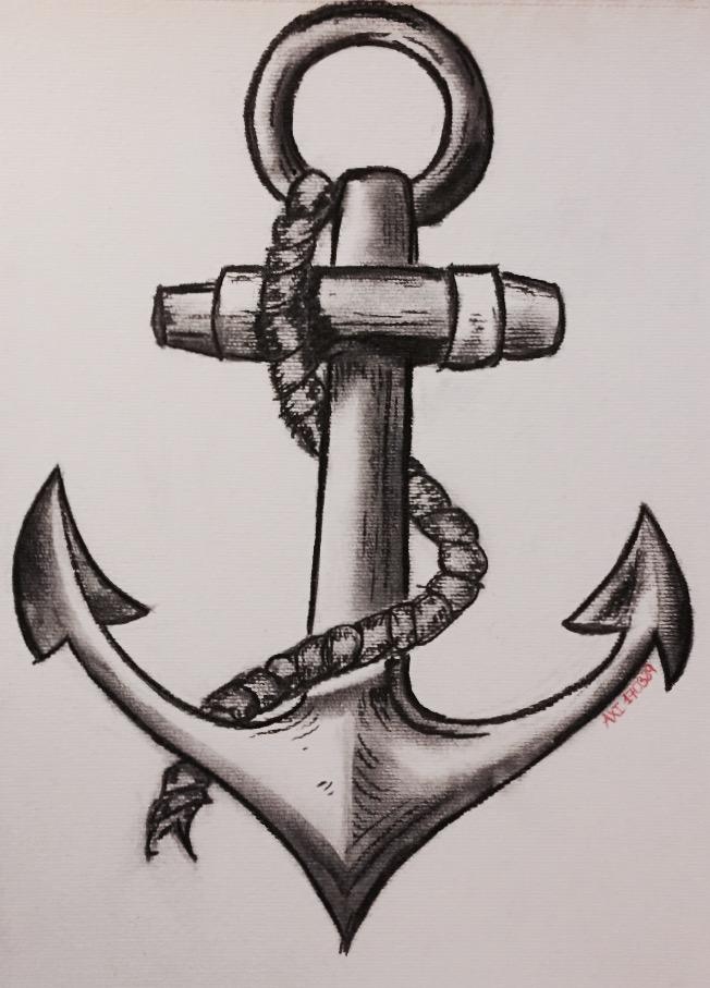 Drawn anchor neat Anchor anchor Drawings Pinterest drawing