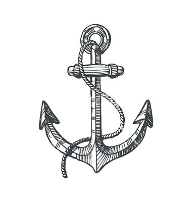 Drawn anchor ocean Anchor an It We ocean