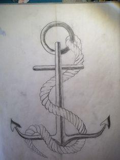 Drawn anchor pencil drawing Place:  Drawings Hearts Pencil