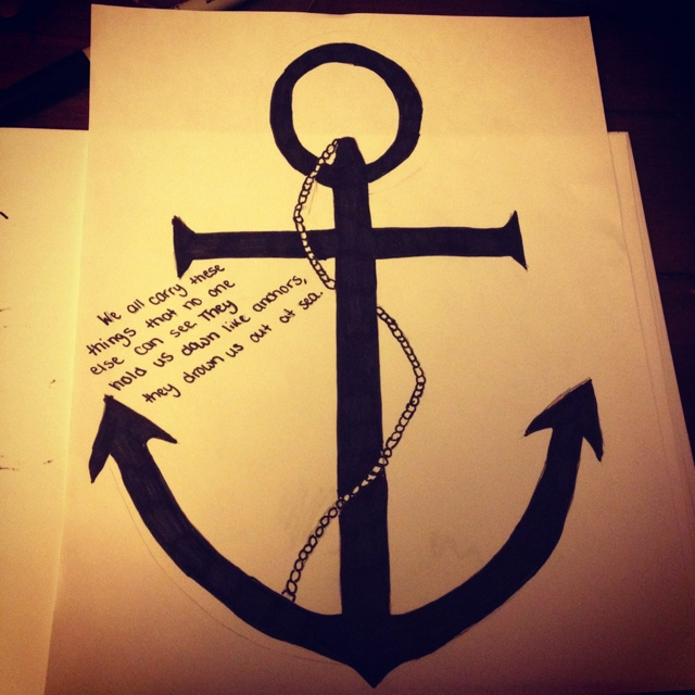 Drawn anchor pencil drawing  Pinterest on images 146
