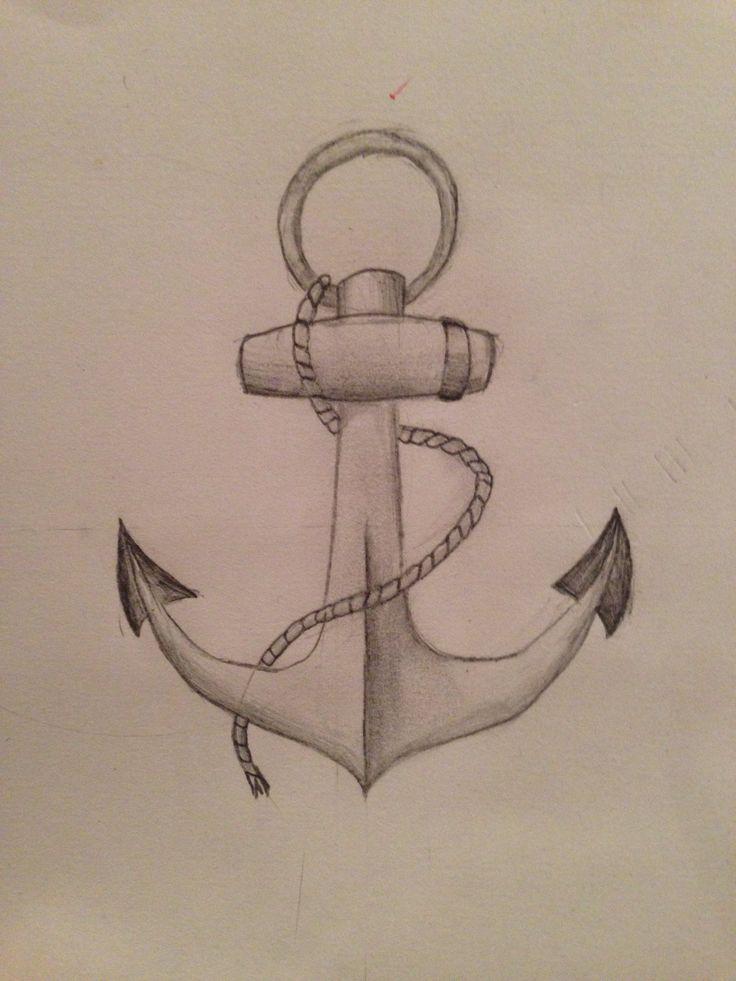Drawn anchor pencil drawing Pencil Drawing Drawing Drawing Pencil