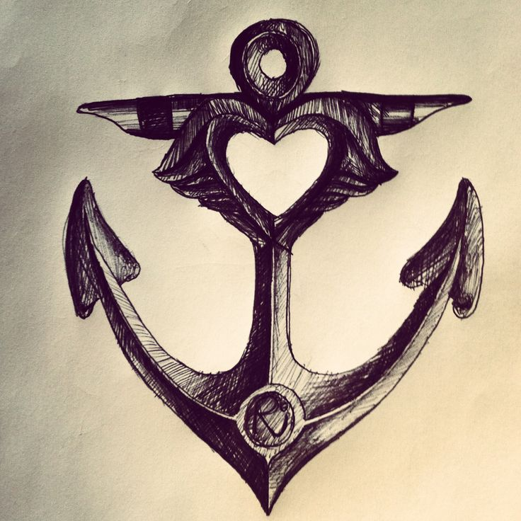 Drawn anchor pencil drawing Best images #anchor on 57