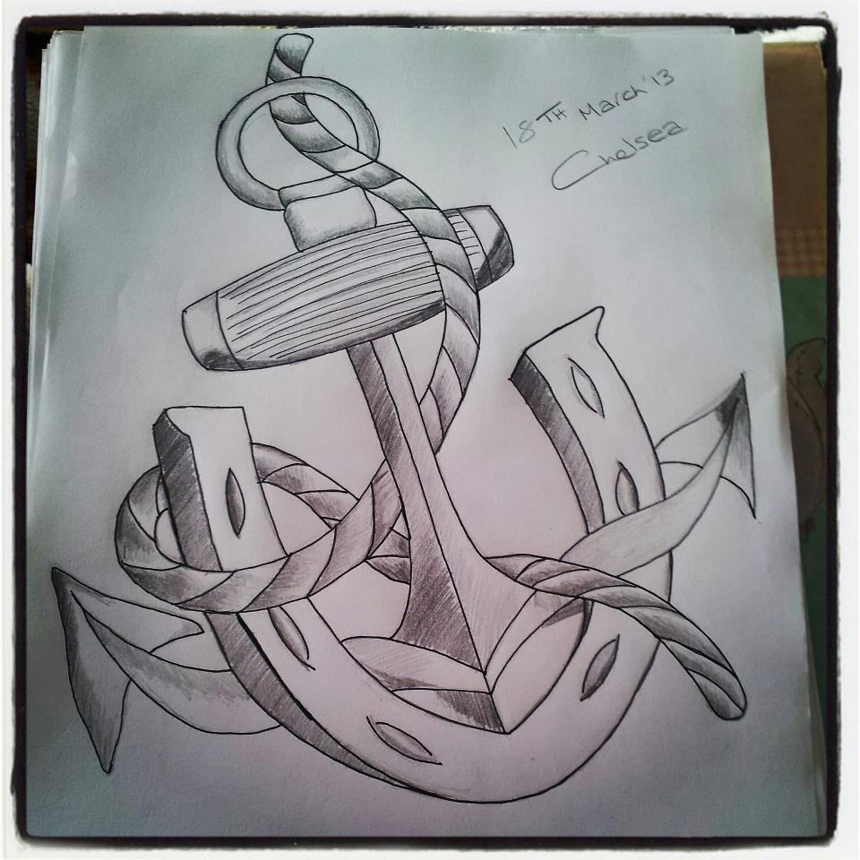 Drawn anchor pencil drawing Anchor Anchor Lucky