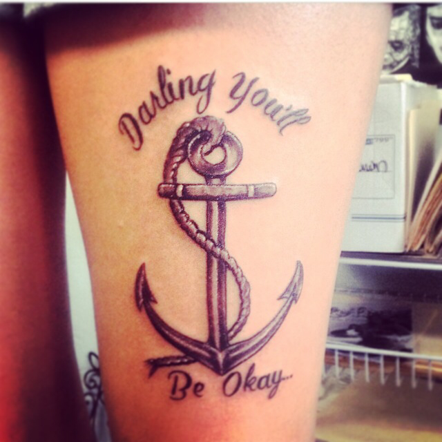 Drawn anchor Anchor tattoo the with tattoo