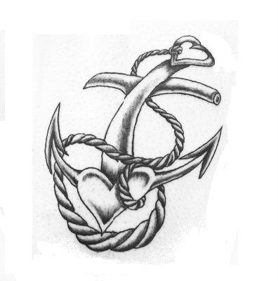 Drawn anchor Tattoos tattoos Tattoo Heart Red