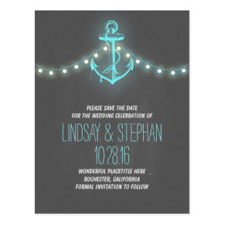 Drawn anchor save the date Anchor nautical the date Gifts