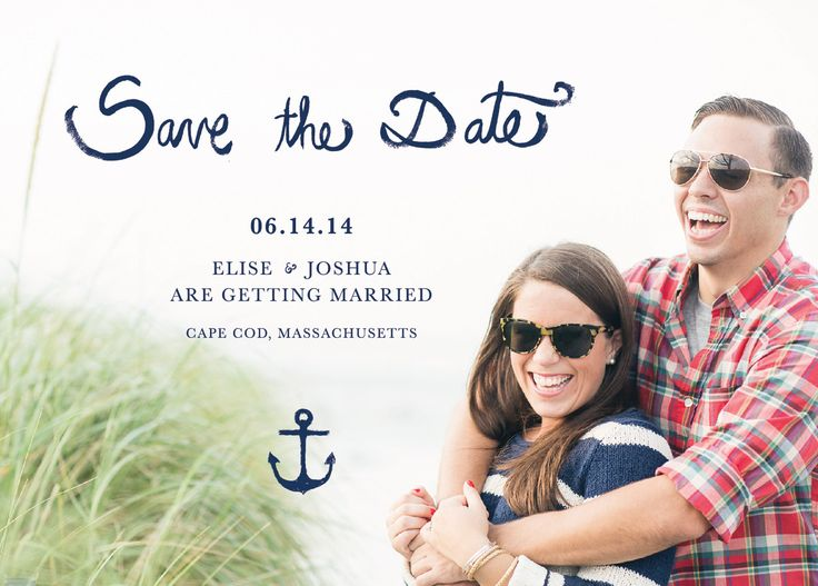 Drawn anchor save the date On the Date Pinterest drawn