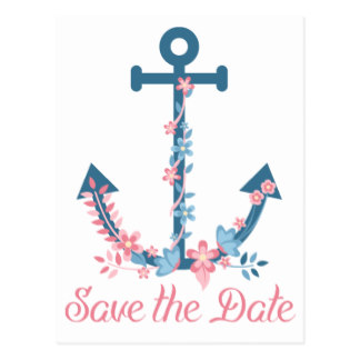 Drawn anchor save the date Card Save The  Anchor