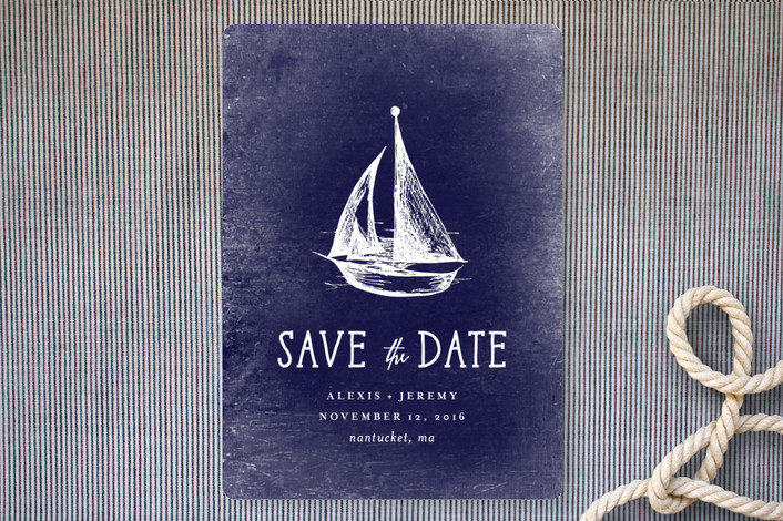 Drawn anchor save the date Rebecca Customizable Save  Date