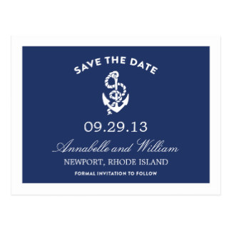 Drawn anchor save the date ANCHOR SAVE DATE POST Date