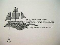 Drawn anchor ship anchor Tall Anchor Drawn Hand AnchorAnchor