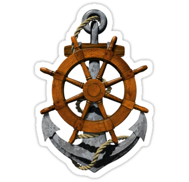 Drawn anchor ship wheel Anchor › drawing Anchor Wheel