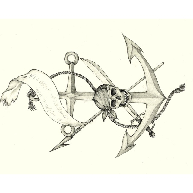 Drawn anchor skull Anchor https://www Pinterest images /