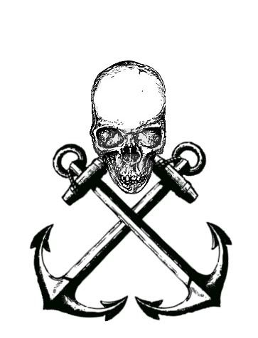 Drawn anchor skull Skull 25+ pirate Pinterest and