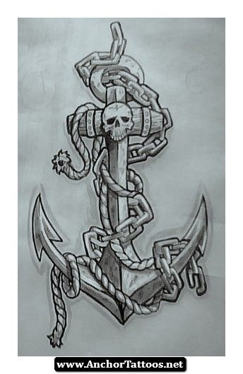 Drawn anchor skull Us http://anchortattoos Pinterest images Navy