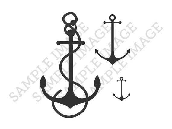 Drawn anchor small Temporary Tattoos Temporary Tiny 3)