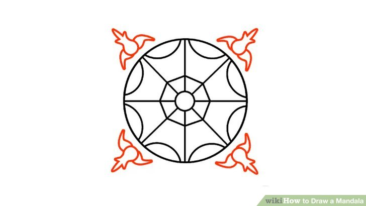 Drawn anchor step by step Mandala a to Pictures) Step