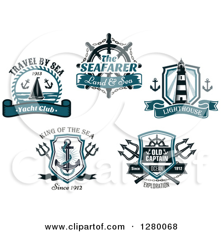 Drawn anchor trident Helm Designs Lighthouse Clipart Nautical