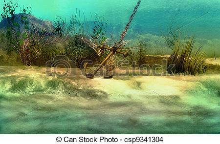 Drawn anchor underwater Imaginary 23 803 Anchor